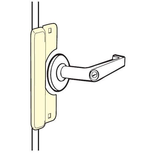 LELP-208-EBF-SL Don Jo Latch Protector for Electric Strikes in Silver Coated Finish