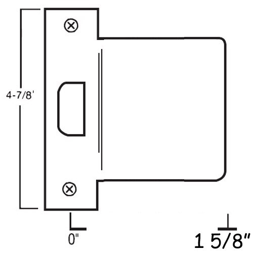 """EST-158-DU Don Jo 4-7/8"""" Extended Lip ANSI Strike"""