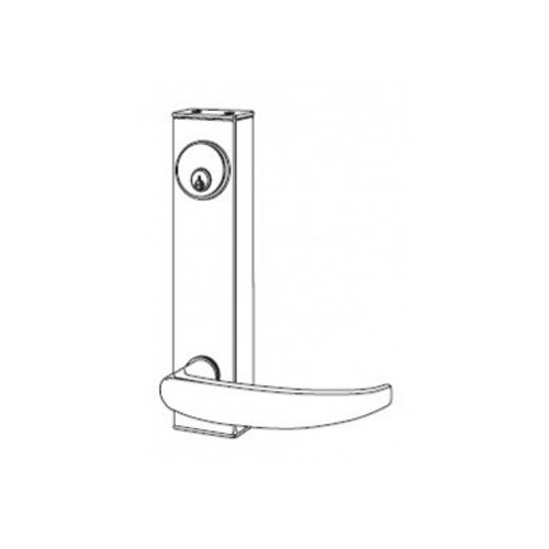 3080-01-0-91-US10B Adams Rite Standard Entry Trim