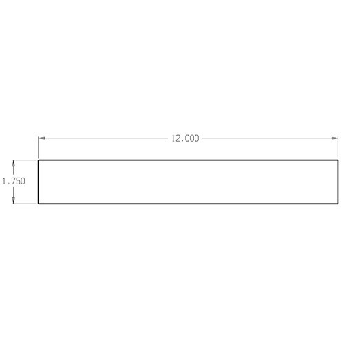 CR-125 Don Jo Reinforcement Plate Dimensional View