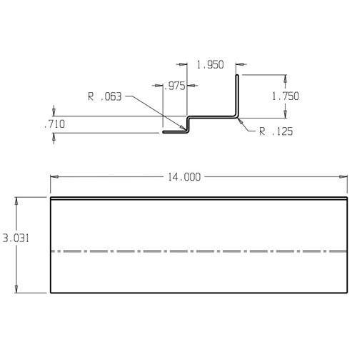 CR-275 Don Jo Reinforcement Plate Dimensional View