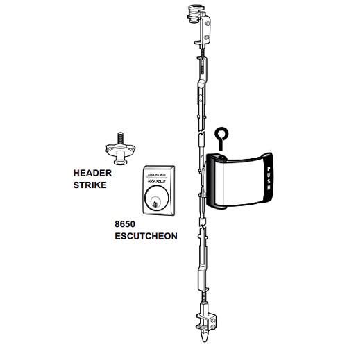 4781T-041-628 Adams Rite Heavy Duty Deadlatch