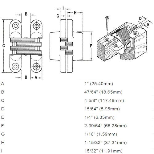 416SS-US32 Soss Invisible Hinge