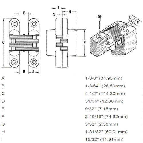 420SS-US32D Soss Invisible Hinge