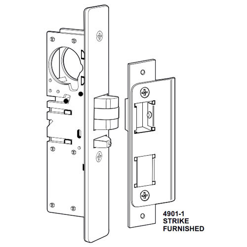4532-26-101-335 Adams Rite Standard Deadlatch