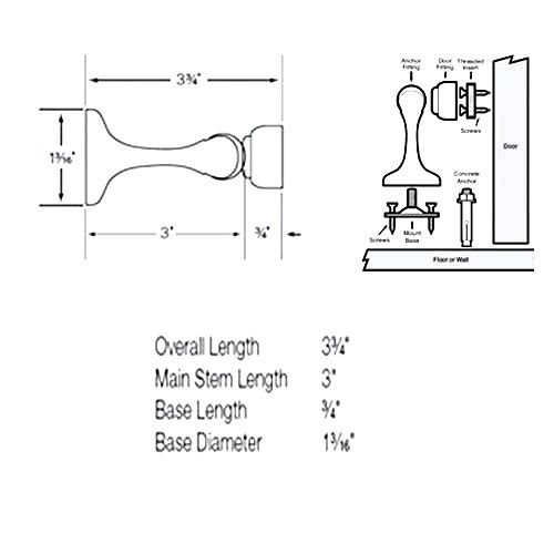MDHC-US26D-HS Soss magnetic door holder and stop