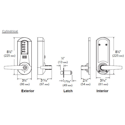 Simplex Pushbutton with Cylindrical Lock
