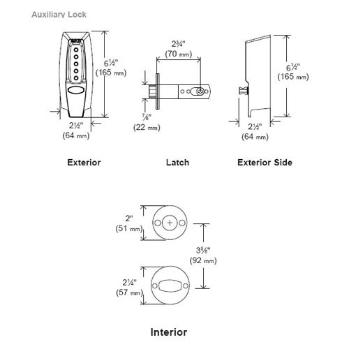 Simplex Pushbutton Lock