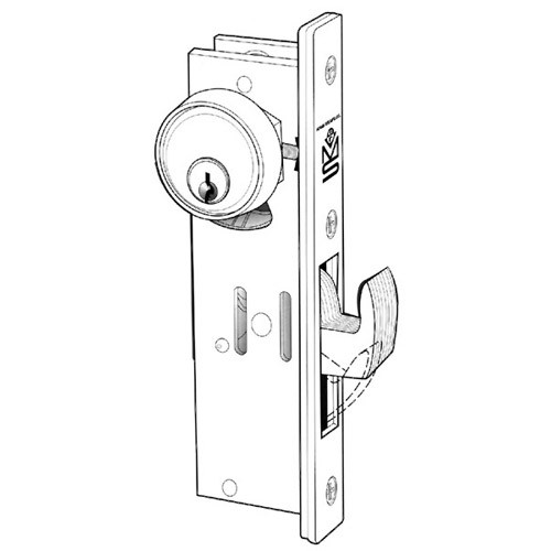 MS1950-250-628 Adams Rite MS1950 Series Deadlock