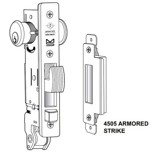 MS+1891W-302-6-335 Adams Rite MS+1891W Series Deadlock/Deadlatch