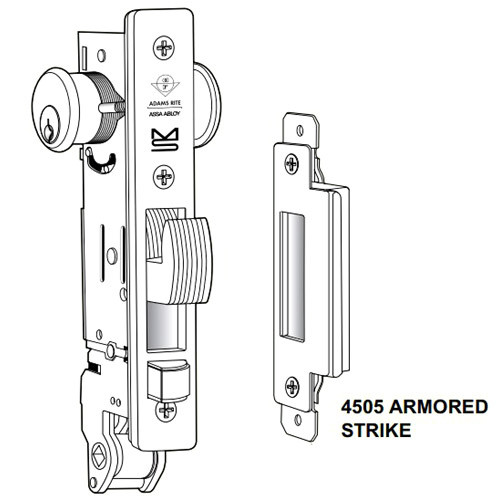 MS+1891W-302-6-628 Adams Rite MS+1891W Series Deadlock/Deadlatch