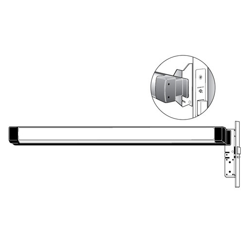 8312-M2-72-48-628 Adams Rite Narrow Stile Mortise Exit Device