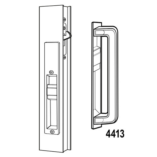 4189-09S-02-121-02-IB Adams Rite Flush Locksets