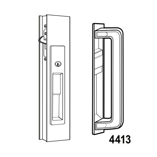 4190-10-03-121-00-IB Adams Rite Flush Locksets