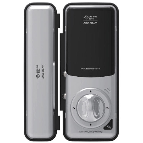 RT1050D Adams Rite RITE Touch Digital Glass Door Lock in Elegant Mirrored