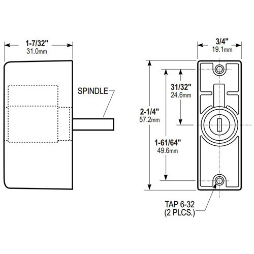 4024-06-121 Adams Rite Cylinder Pull
