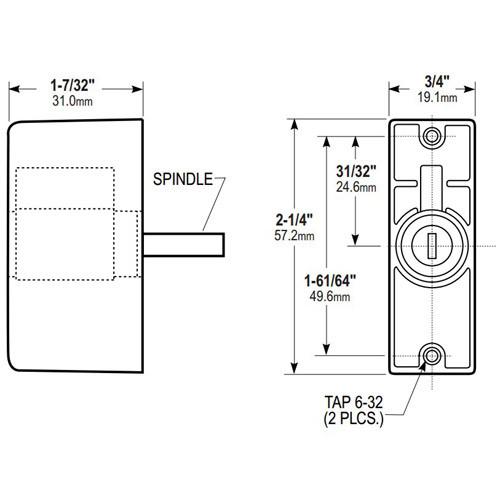 4024-06-130 Adams Rite Cylinder Pull