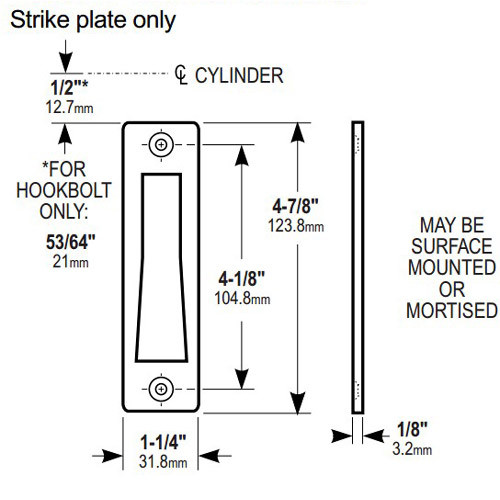 4000-012-313 Adams Rite MS Deadlock Strike