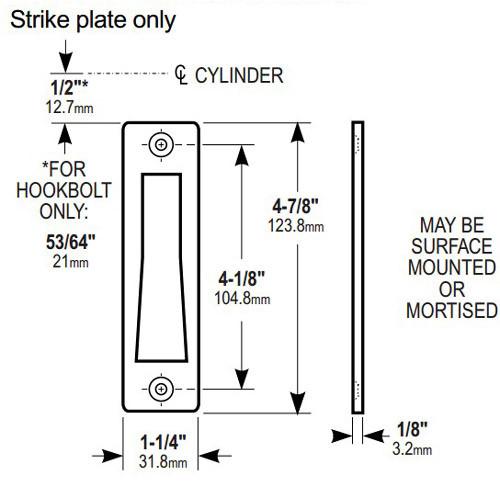 4000-111-628 Adams Rite MS Deadlock Strike