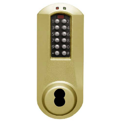 Eplex Pushbutton Lock in Satin Brass Finish