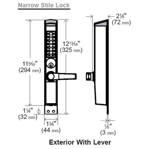 E-Plex Electronic Pushbutton Lock