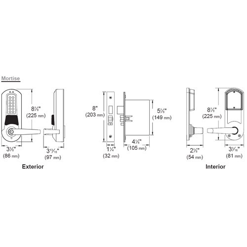 Eplex Pushbutton with Mortise