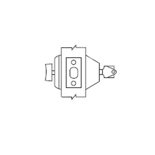 D61-26 Arrow Lock D Series Deadbolt Single Cylinder with Thumbturn in Bright Chromium