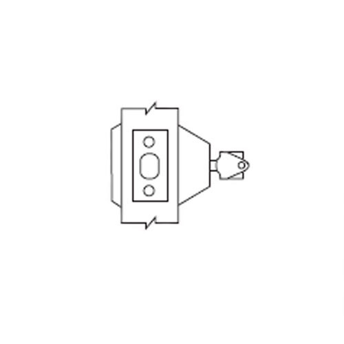 D63-26-IC Arrow Lock D Series Deadbolt Single Cylinder with Blank Plate Prepped for Removable Core in Bright Chromium