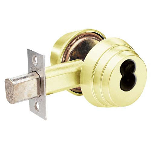 Arrow Lock E61 US3 Polished Brass Single Cylinder Deadbolt