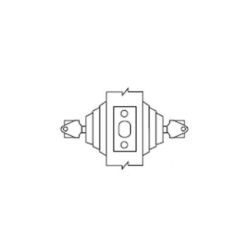 E62-03 Arrow Lock E Series Deadbolt Double Cylinder in Bright Brass