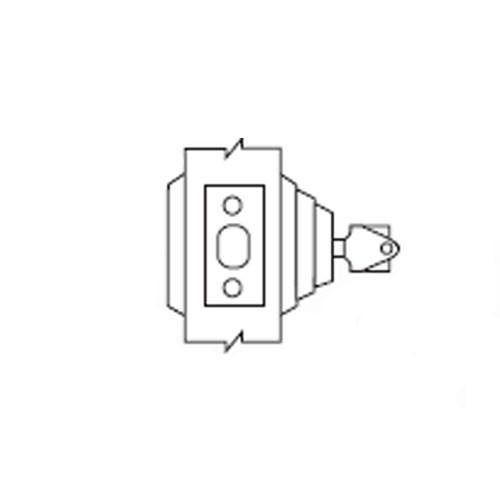 E63-05A Arrow Lock E Series Deadbolt Single Cylinder with Blank Plate in Antique Brass
