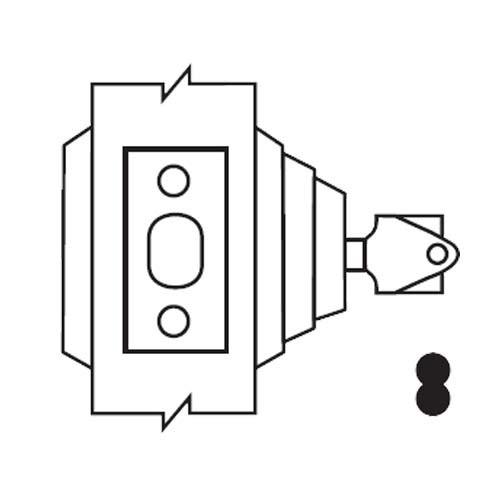 E63-03-IC Arrow Lock E Series Deadbolt in Bright Brass Finish