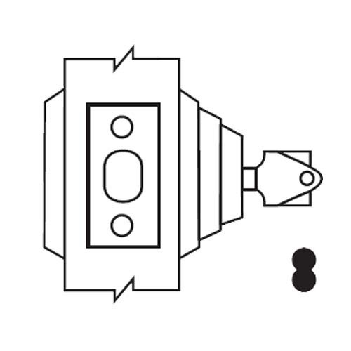 E63-04-IC Arrow Lock E Series Deadbolt in Satin Brass Finish