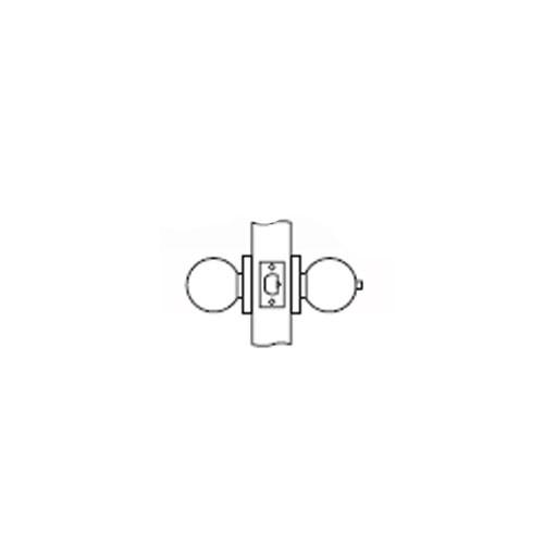 MK04-TA-04 Arrow Lock MK Series Non Keyed Cylindrical Locksets for Patio with TA Knob in Satin Brass