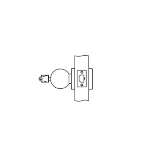 MK18-TA-26D Arrow Lock MK Series Cylindrical Locksets Single Cylinder for Communicating Classroom with TA Knob in Satin Chromium