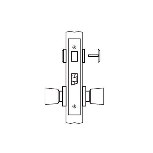 AM02-HTHD-03 Arrow Mortise Lock AM Series Privacy Knob Trim with HTHD Design in Bright Brass