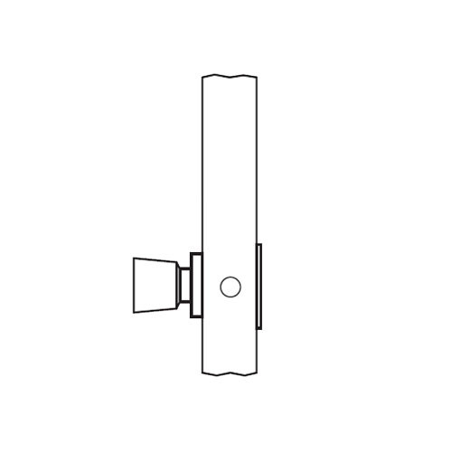 AM08-HTHD-03 Arrow Mortise Lock AM Series Single Dummy Knob Trim with HTHD Design in Bright Brass