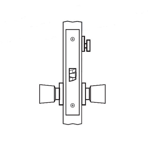 AM26-HTHD-03 Arrow Mortise Lock AM Series Privacy Knob Trim with HTHD Design in Bright Brass