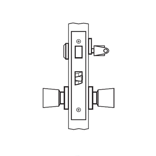AM13-HTHD-03 Arrow Mortise Lock AM Series Front Door Knob Trim with HTHD Design in Bright Brass