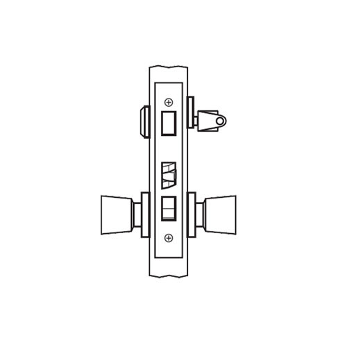 AM20-HTHD-03 Arrow Mortise Lock AM Series Entrance Knob Trim with HTHD Design in Bright Brass