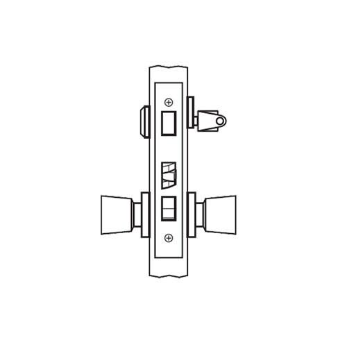 AM20-HTHD-26 Arrow Mortise Lock AM Series Entrance Knob Trim with HTHD Design in Bright Chromium