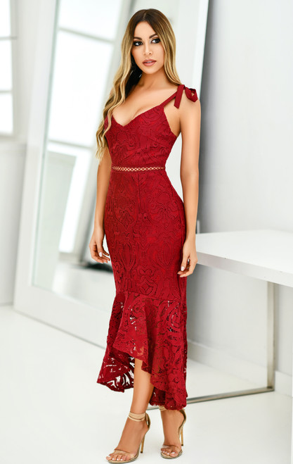 The Valentina Dress in Red by Two Sisters The Label from Lady Black Tie