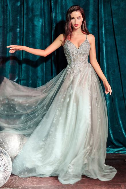 Luna gown, Sage
