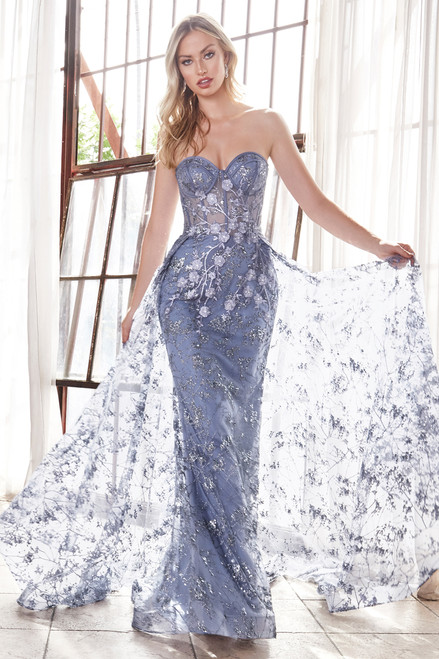 Nova Gown - Smokey Blue