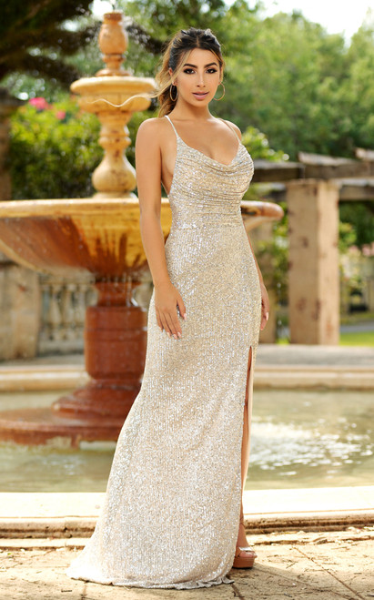 Sparkling Champagne Gown