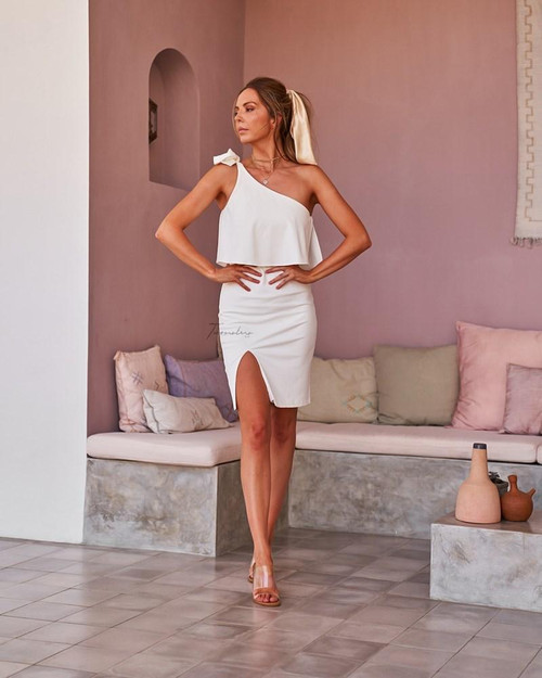 The Edith Dress - White