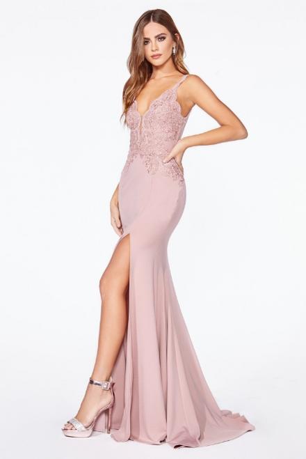 Anastasia Gown Dusty Pink by Lady Black Tie