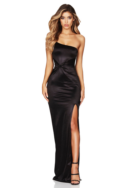 Tease Satin Gown Black by Nookie from Lady Black Tie