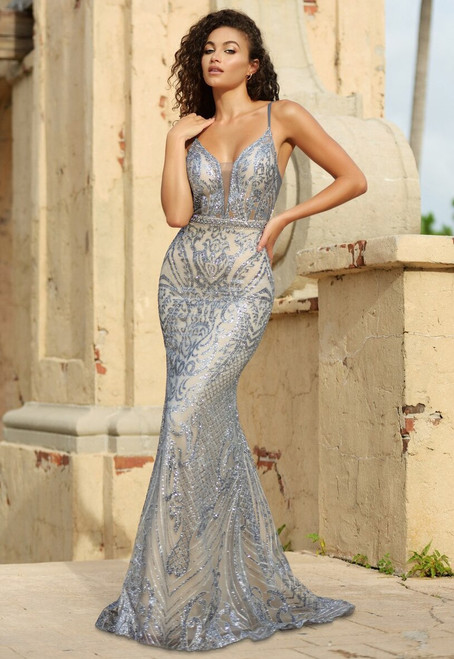 The Eliza Gown Smokey Blue by Lady Black Tie