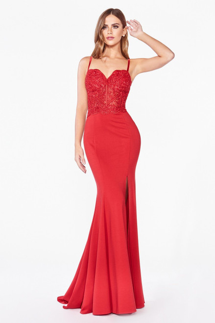 The Ellery Gown Red by Lady Black Tie
